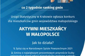 Plakat - Aktywni mieszkańcy Małopolski